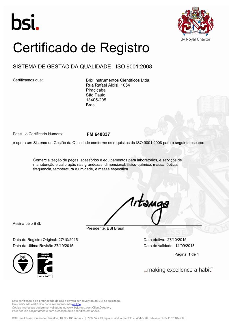 Conheça nossas certificações